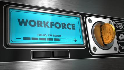 Workforce on Display of Vending Machine.