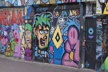 Graffiti artwork on the wall