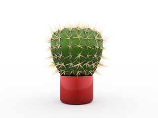 Cactus rendered isolated