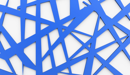 Blue meshes background rendered
