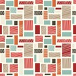 seamless retro abstract colorful pattern