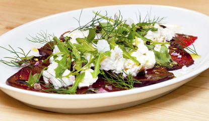 Beet-root carpaccio