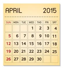 calendar 2015 04 April