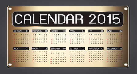 calendar 2015 Fiber Background