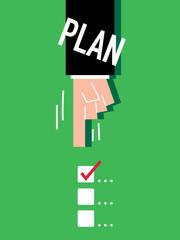 Word Plan VECTOR ILLUSTRATION