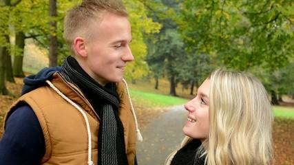 happy couple talk (conversation) - couple smiles (happy)