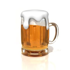beer glass 3d illustration