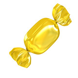 golden candy isolated