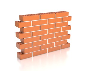 brick wall 3d illustration