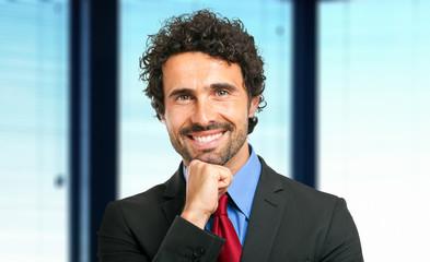 Friendly businessman portrait