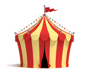 circus tent 3d illustration