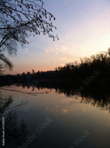 canvas print picture sunset time