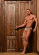 Model at the door