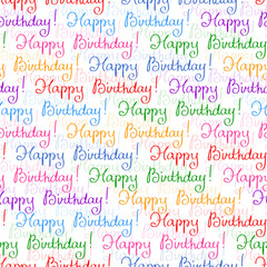 Seamless pattern for Birthday