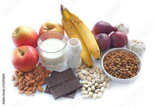 Staande foto Zuivelproducten Probiotic foods diet