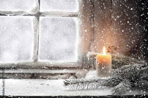 Leinwanddruck Bild snow