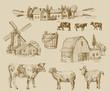 farm hand drawn - 72316052