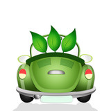 Ecological car for respect of planet poster