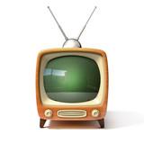 retro tv 3d illustration