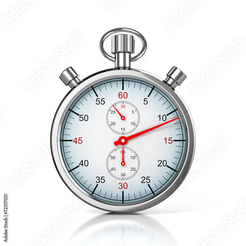 stopwatch 3d illustration - 72317031