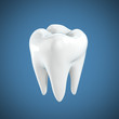 Detaily fotografie tooth 3d illustration