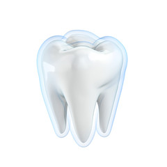 teeth protection 3d concept