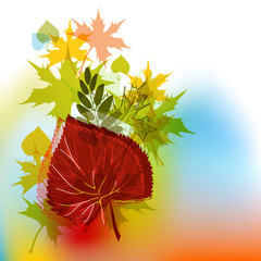Autumn background in bright colors