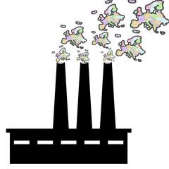 Inquinamento Europa map