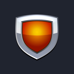 Red Protect  Shield Icon