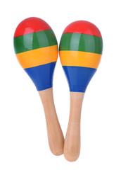 Wooden toy maracas