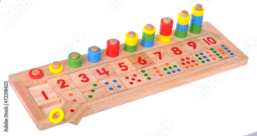 Wooden toy scores colorful blocks - 72318425