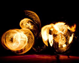 Burning Man Fiery Motion