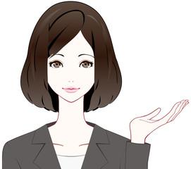 スーツの女性 紹介