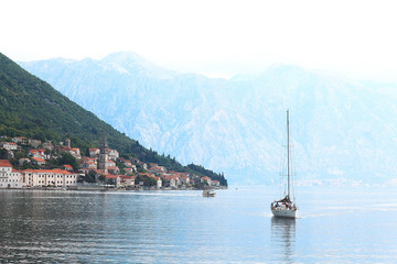 Sea island monastery Montenegro