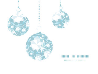 Vector shiny diamonds Christmas ornaments silhouettes pattern