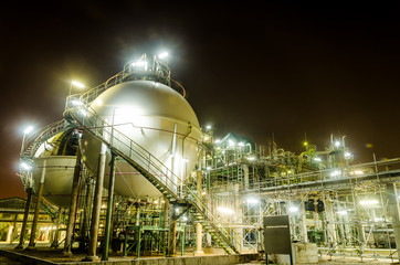 two sphere tank gas petrochemical industry