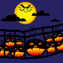 Halloween Pumkin on bridge