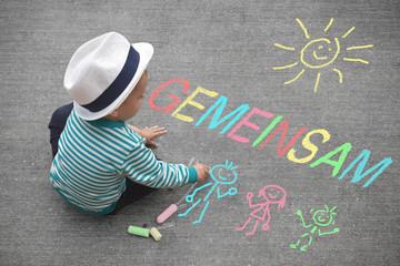 Kinderzeichnung - Gemeinsam