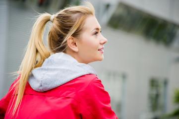 Portrait einer jungen Sportlerin