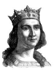 French Medieval King : Saint Louis (Louis IX) - 13th century