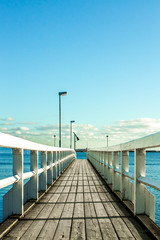 Long pier towards the ocean