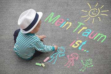Kinderzeichnung - MeinTraum ist...