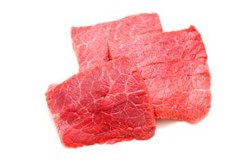 Fresh Raw Beef Meat. Isolatet on White Background