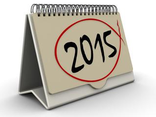Перекидной календарь с надписью 2015