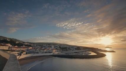 Sunrise in Angra do Heroismo, Azores, Terceira island