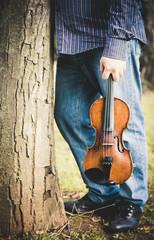 Violino in mano