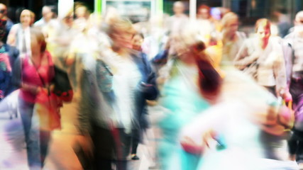 Motion blur/abstract people.