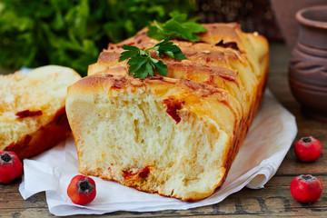Fresh homemade cheese bread