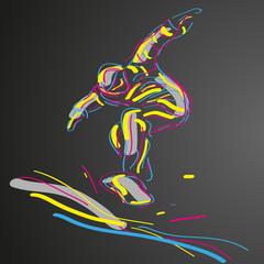 snowboard wektor