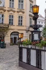 Vienna empty corner street